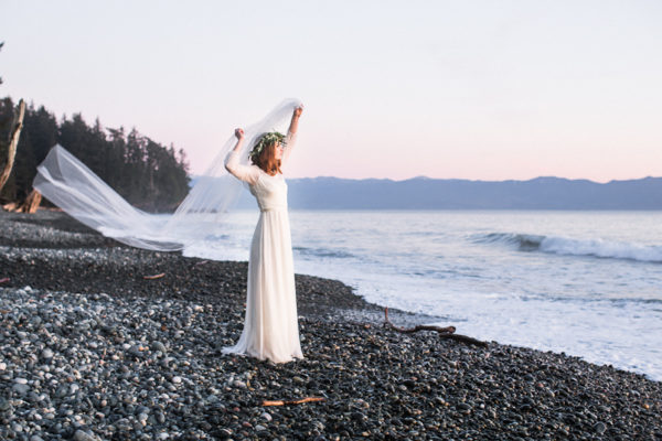 Bridal Session at French Beach Provincial Park, Vancouver Island, BC