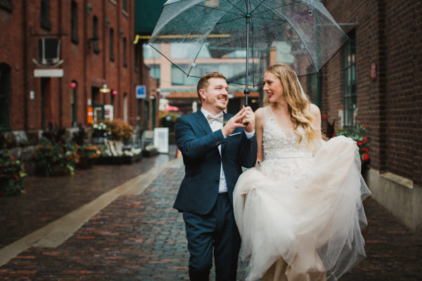 Balzac's Distillery District Toronto Wedding | Beth and Ted