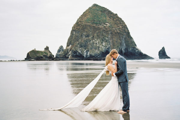 Elopement Shoot at Cannon Beach, Oregon