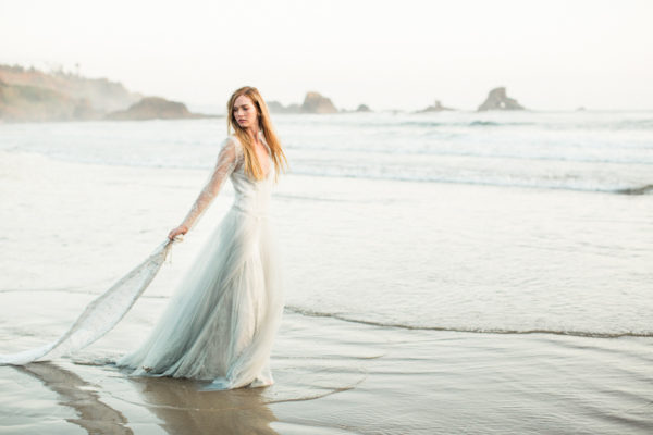 Bridal Session at Indian Beach, Oregon