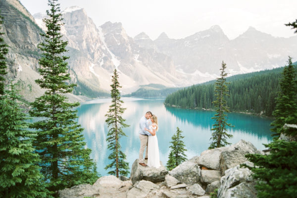 Moraine Lake and Lake Louise Engagement Session | Alli and Marc